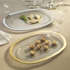 Glass Gold Rim Buffet Plate